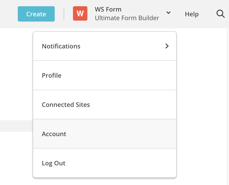 WS Form PRO - MailChimp - Click on Account