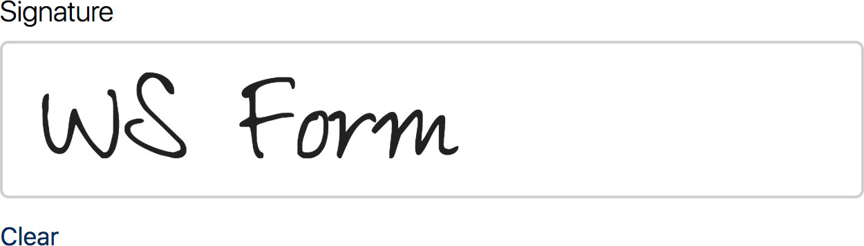 WS Form PRO - Signature