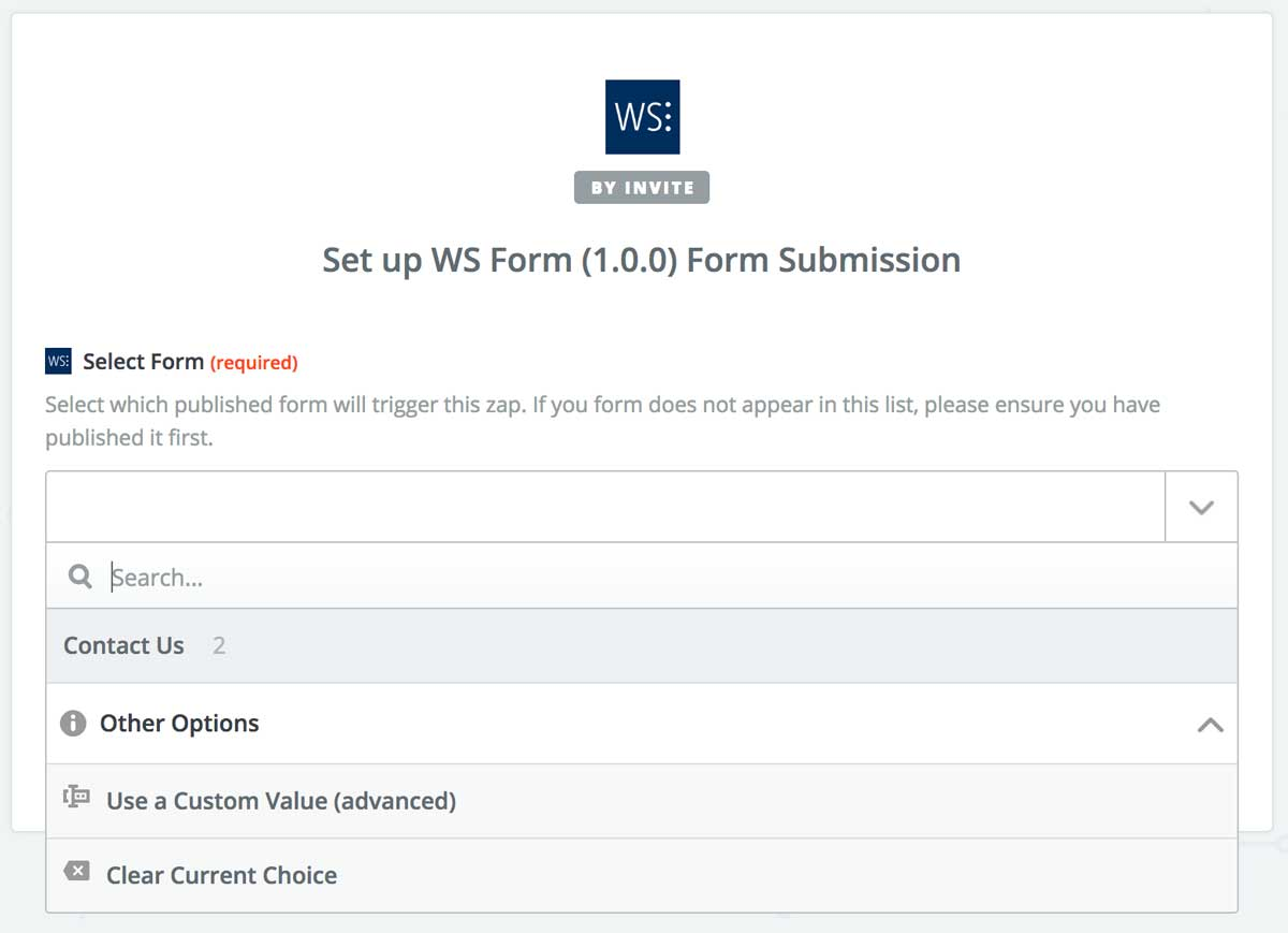 The Zapier Add-On for WordPress – WS Form