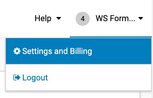iContact Settings and Billing