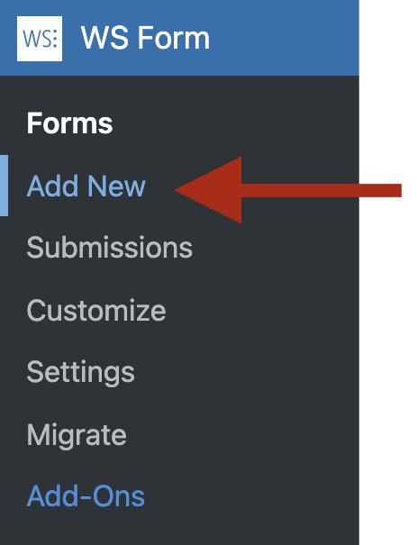 WS Form - Add New Form