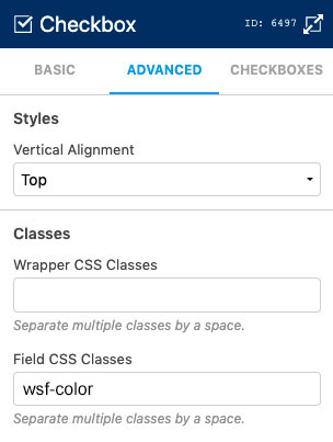 Editing Field CSS Classes