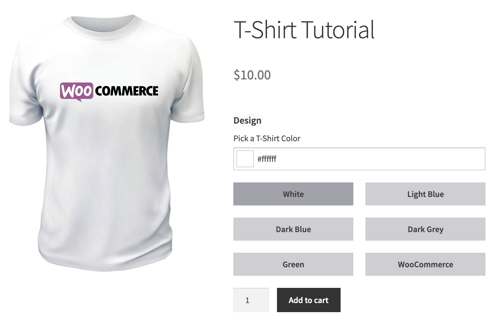 Customizable T-Shirt Product Tutorial - Finished Product