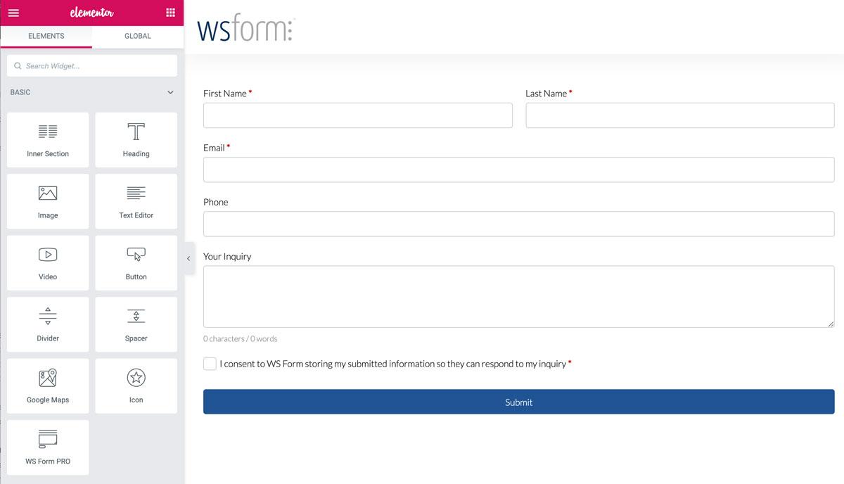 WS Form - Elementor Module
