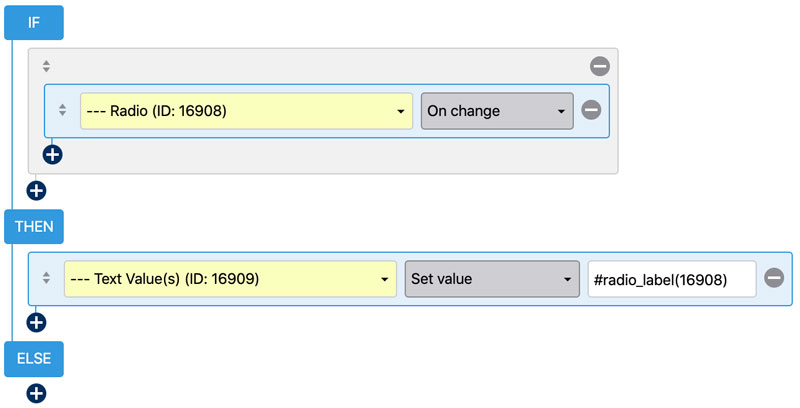 WS Form - Extract Select, Checkbox and Radio Text Values - Conditional Logic