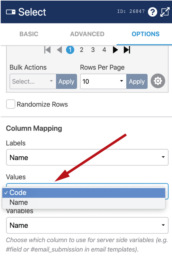 WS Form - Data Source - Column Mapping