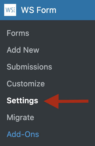 WS Form - Admin Menu Settings