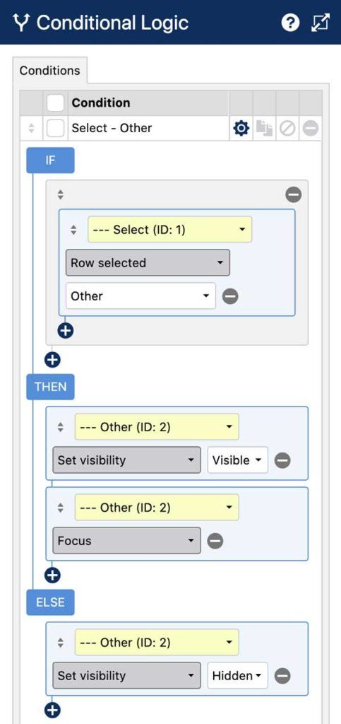 WS Form - Create an Other Field - Conditional Logic