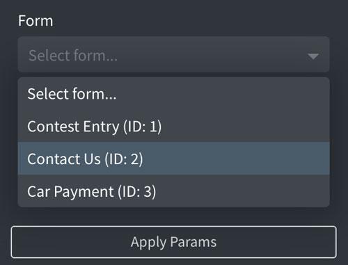 WS Form - Oxygen Visual Editor - Choose Form