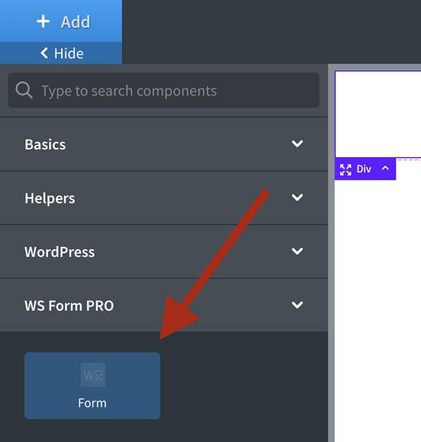 WS Form - Oxygen Visual Builder - Form Element