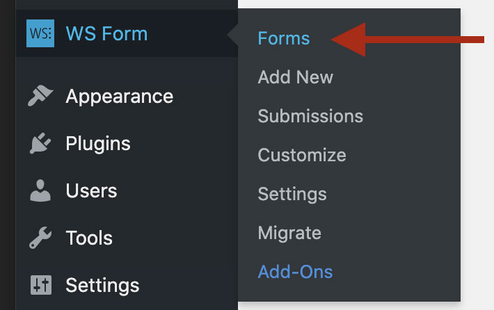 WS Form - Admin Menu - Forms