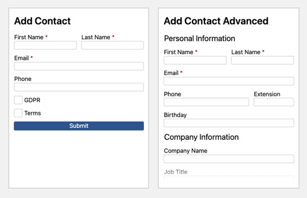 WS Form - Groundhogg Add-On - Templates