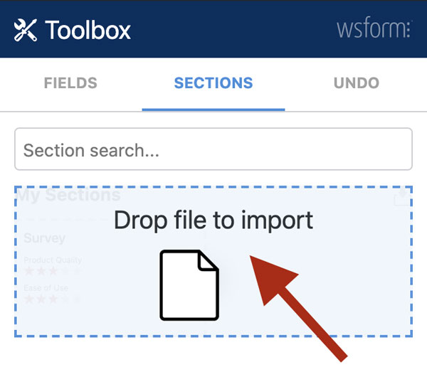 WS Form PRO - Section Library - Drag and Drop