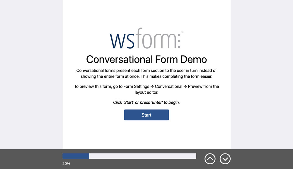 WS Form PRO - Conversational Forms