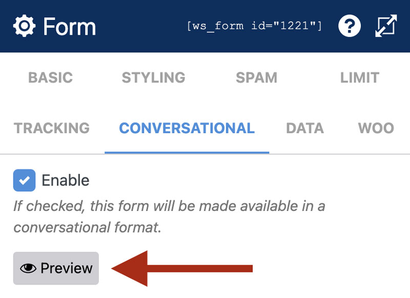 WS Form PRO - Conversational Form - Preview