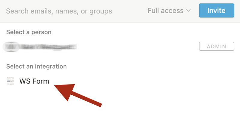 WS Form PRO - Notion - Choose WS Form Integration
