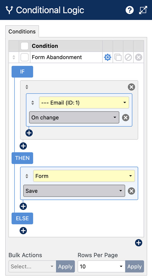 WS Form - Form Abandonment - Conditional Logic