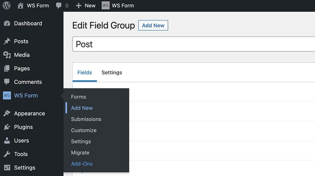 WS Form Meta Box Tutorial - Add New Form