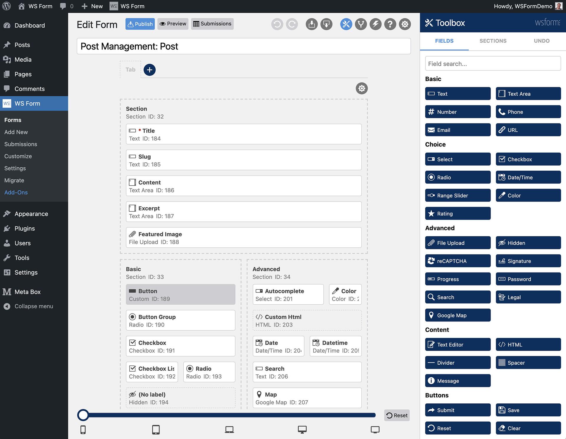 WS Form Meta Box Tutorial - New Form