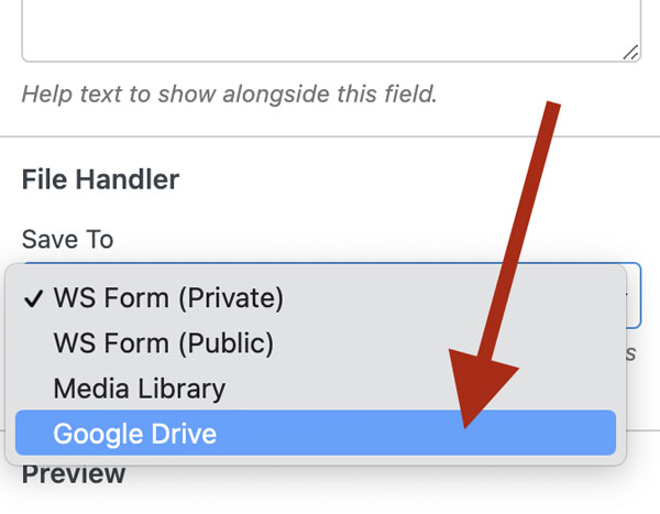 WS Form PRO - Google Drive Add-On - File Handler