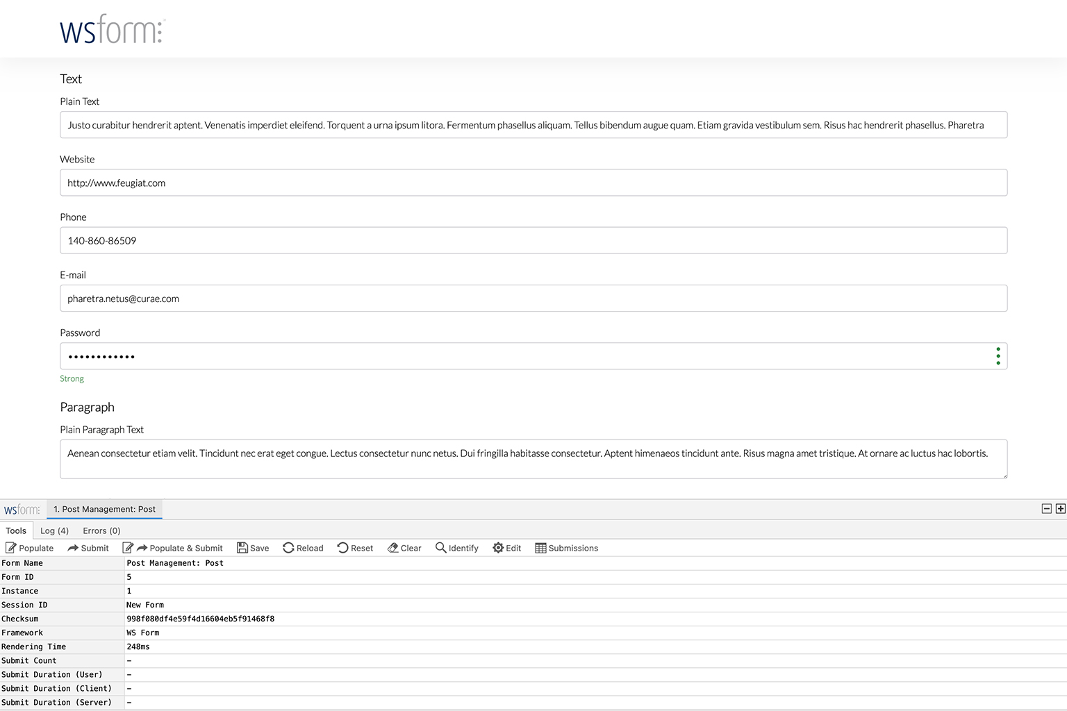 WS Form Pods Tutorial - Preview and Populate via the Debug Console