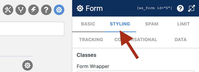 WS Form PRO - Style Tabs - Form Settings - Styling Tab