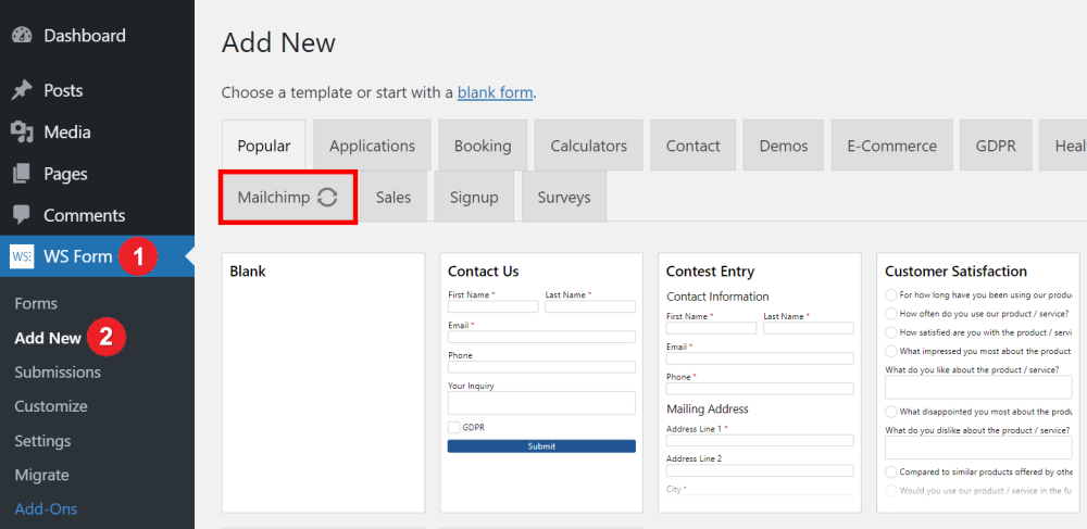 Creating a Mailchimp Form Automatically